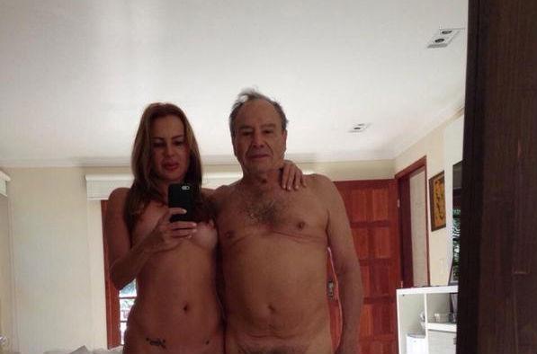 Vazam nudes de Stênio Garcia com a mulher