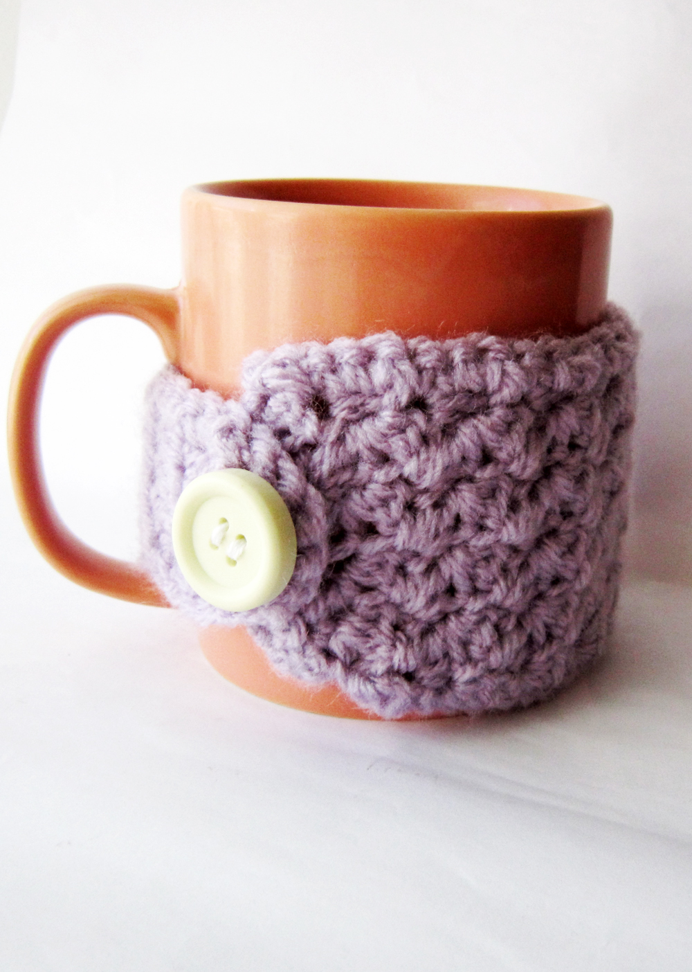 Crochet cup cozy pattern