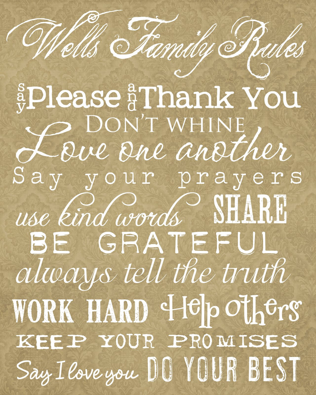 family rules Find and save ideas about family rules on pinterest | see more ideas about bible scriptures, family bible quotes and family scripture.