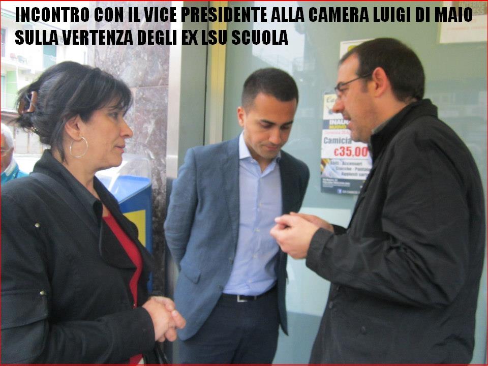 Exlsu ata incontro con luigi di maio vice presidente for Movimento 5 stelle camera