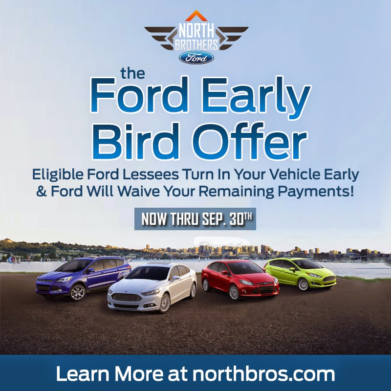 Ford Early Bird Offer at North Brothers Ford in Westland, Michigan