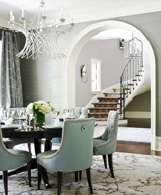 Decora y disena decorando el comedor con el vers til for Cortinas para comedor gris