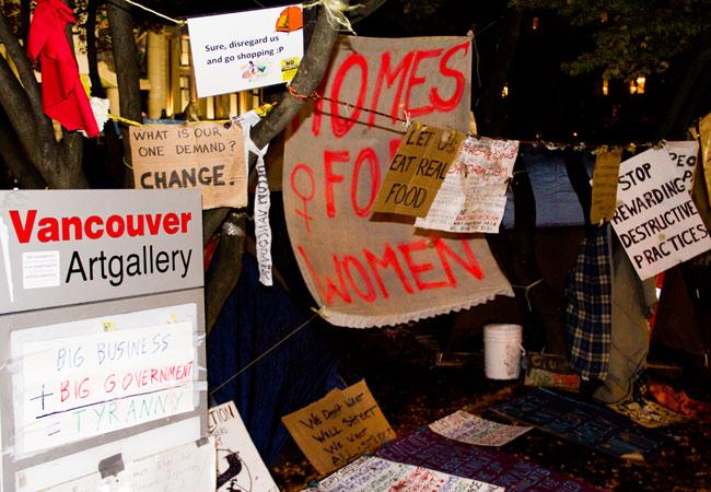 Occupy Vancouver Signs, Signs, Occupy Vancouver