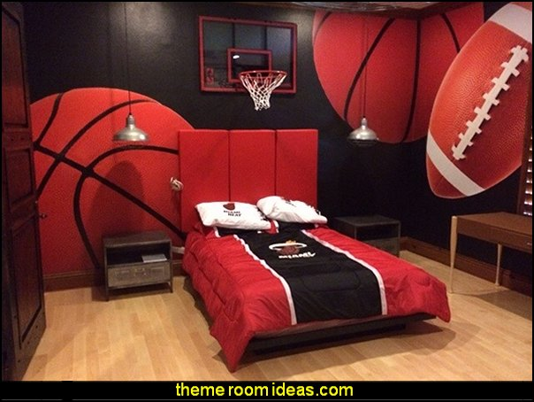 sports bedrooms all sports theme bedroom wall murals decorating ideas sports bedrooms - Sports Bedroom Decorating Ideas