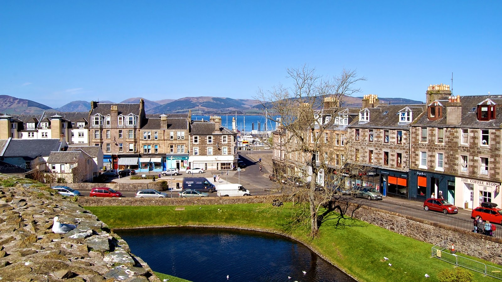 View of Rothesay from the castle walls, Isle of Bute