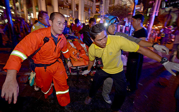 Video: Bomb Explosion at Bangkok, Thailand 12 people Died and 25 injured