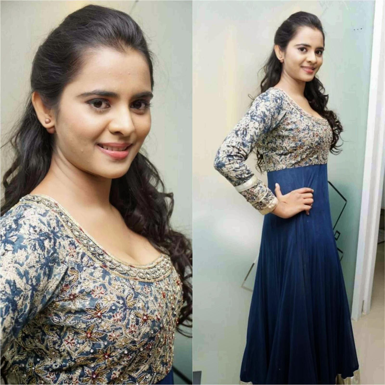 Actress Manasa Himavarsha Latest Cute Hot Spicy Photos Gallery At Naturals Salon Launch
