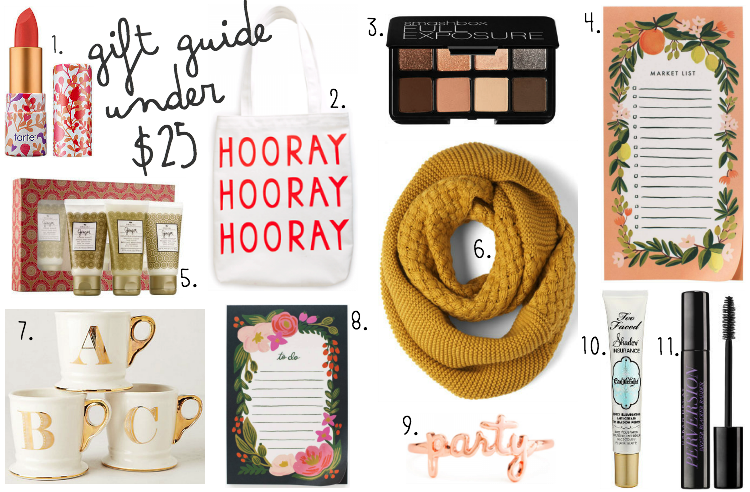 Under $25 Christmas Gift Guide | Mandy Leigh Blog
