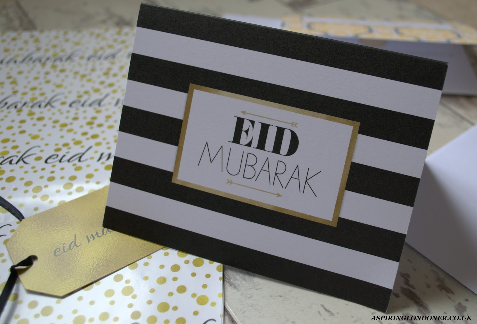 Modern Stripe Eid Greetings Card - Aspiring Londoner