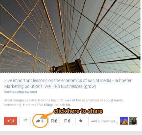 Google Plus reshare 5