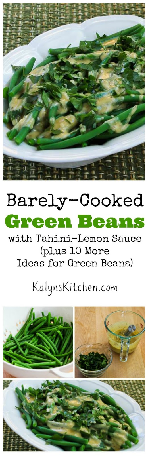 Kalyn's Kitchen®: Barely-Cooked Green Beans with Tahini ...