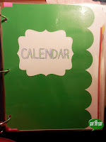Calendar Divider Page from Miss, Hey Miss!