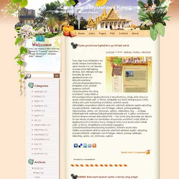 Cambodia a Mysterious Kingdom template blog from wordpress. travel blog template. template blog from wordpress. travel blog template