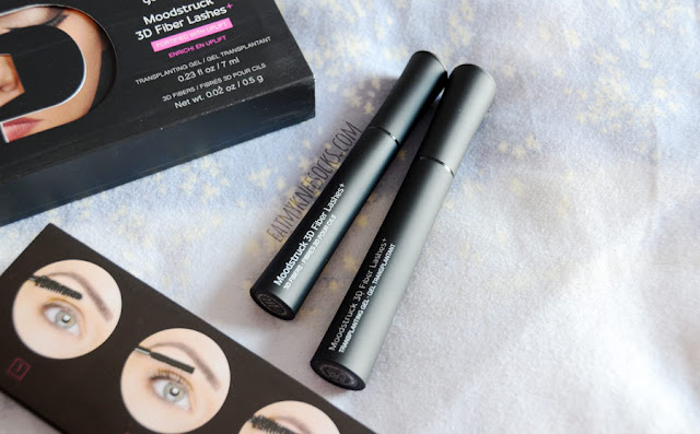 For $29, the Moodstruck 3D Fiber Lashes+ from Younique come in a sleekly-designed box containing transplanting gel, 3D fibers, and a guide on how to use the product.