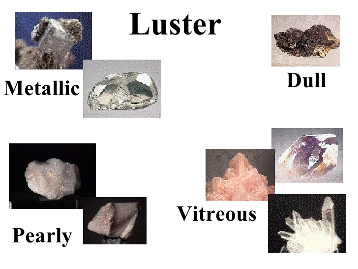 Minerals with luster