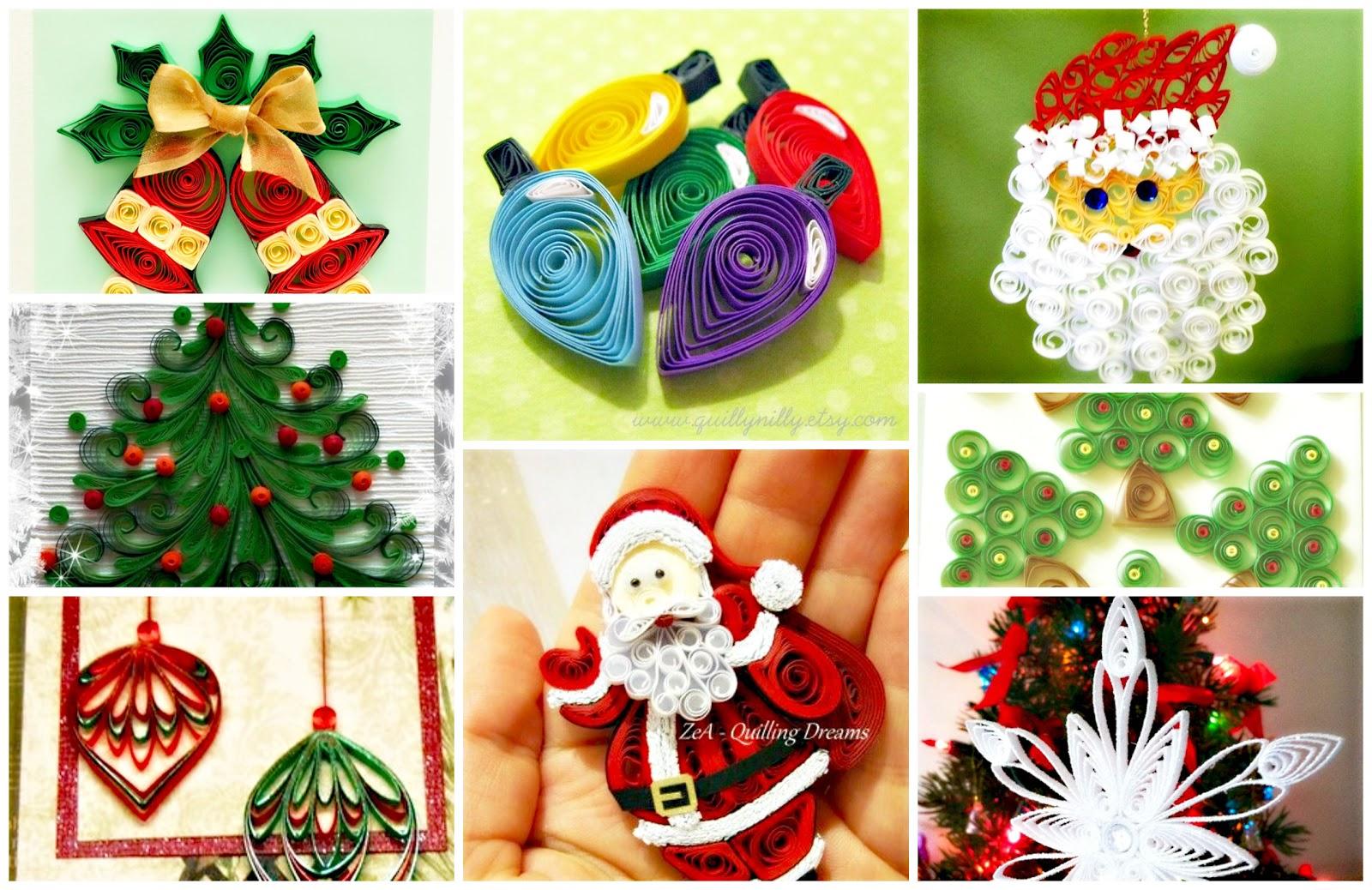 Reciclando con erika navidad con filigrana inspirarte - Como se hacen adornos navidenos ...