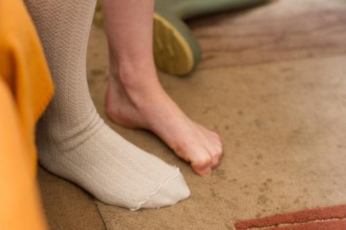 Model's feet