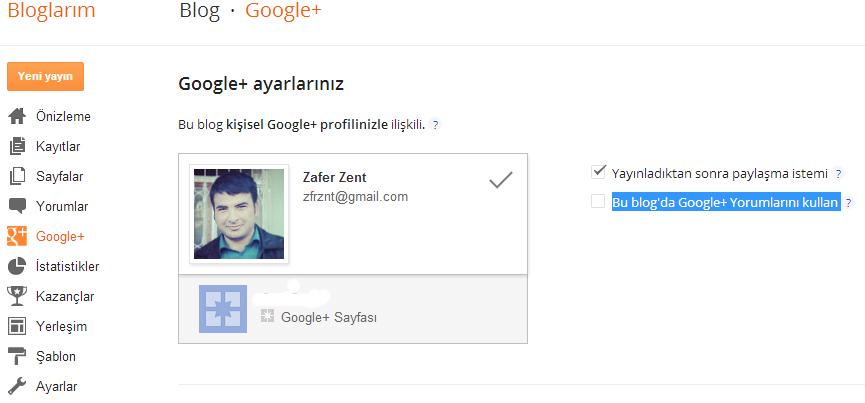 Blogger İçin Google Plus Yorum Sistemi (Formu)