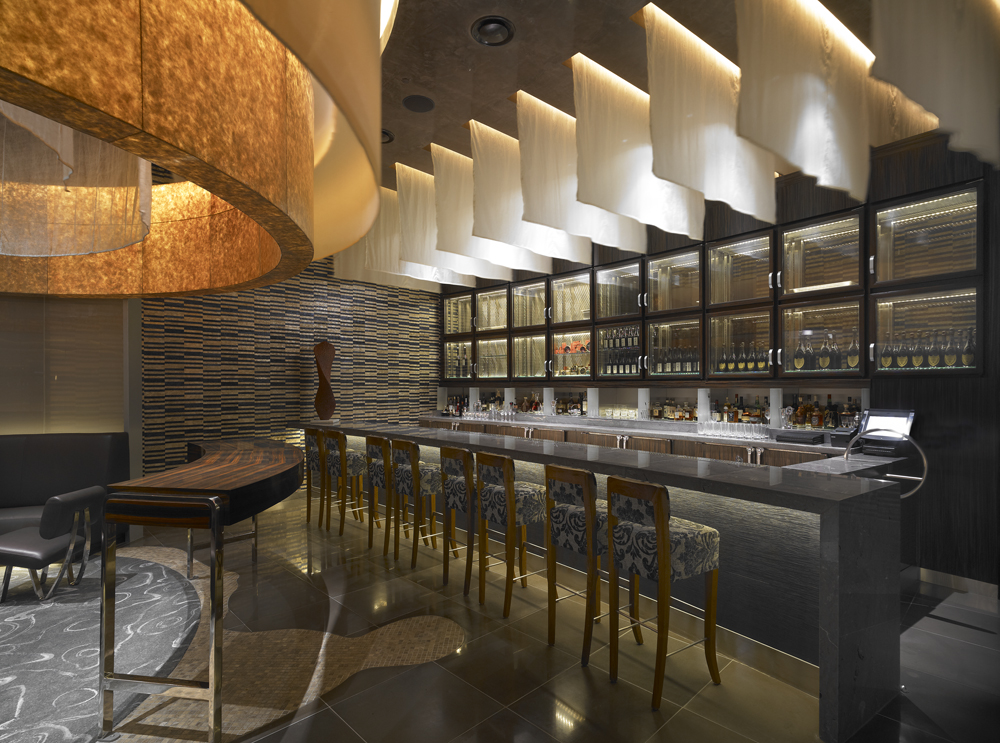 main dining room four teppanyaki rooms a sake bar caviar lounge and
