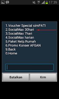 Paket internet Social Max SimPATI 2GB Sebulan
