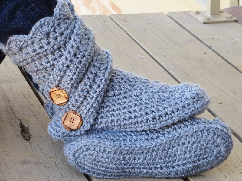 Crochet Free Patterns Slipper Boots : Crochet Dreamz: Womans Slipper Boots Crochet Pattern ...