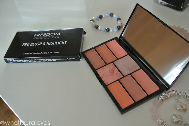 Freedom Pro Blush Palette in Peach and Baked Review and Swatches