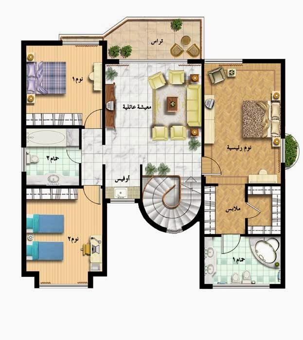 Villa plans in saudi arabia 300 meter square for 300 square meter house plan