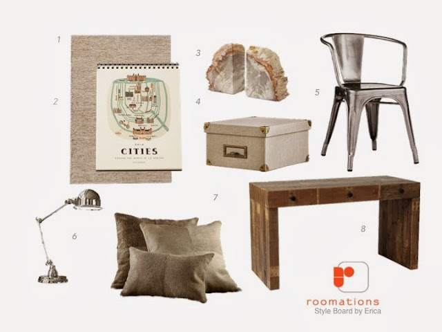 Roomations Style Board - Natural Meets Industrial Chic