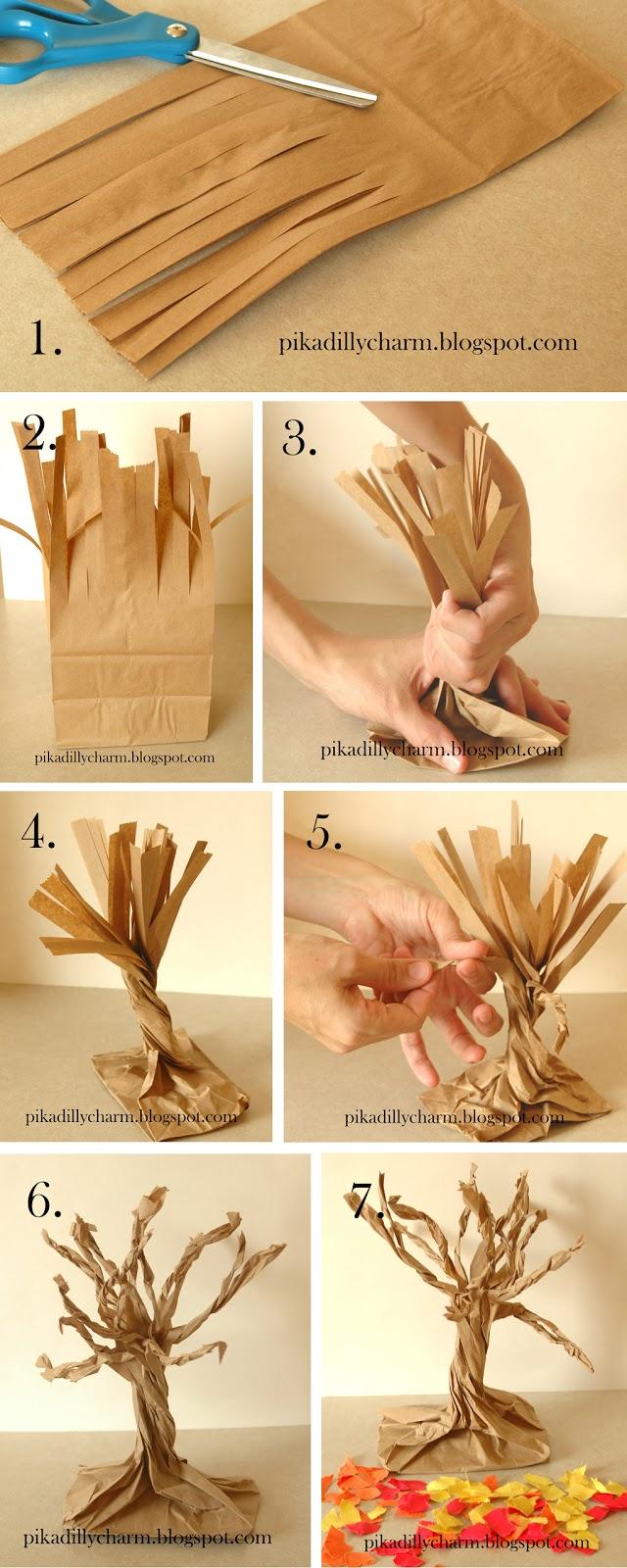 Как сделать дерево своими руками в домашних условиях из бумаги 93