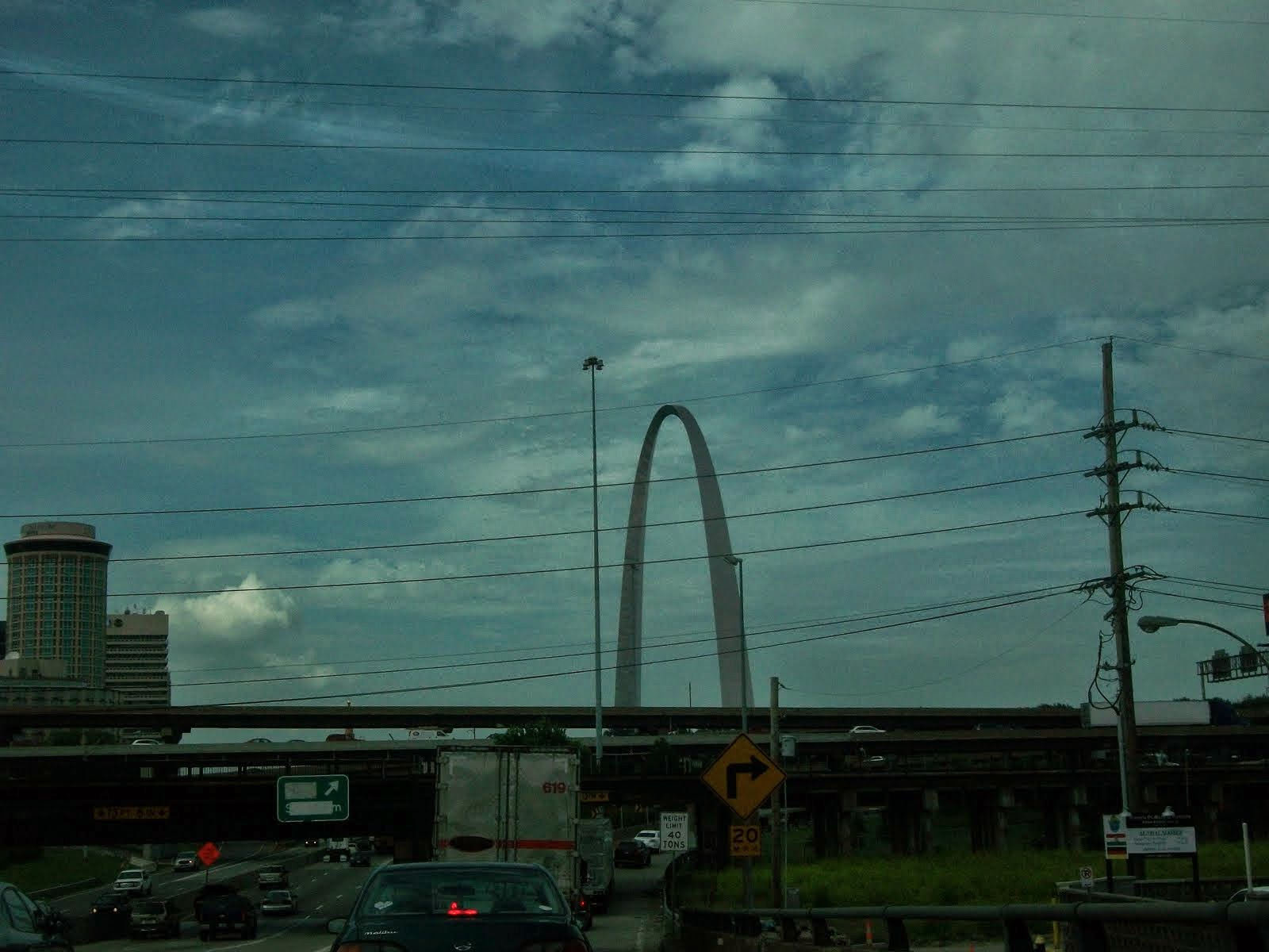 The famous St. Louis Arch, the gateway to the west