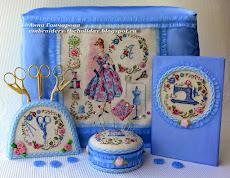 Мой комплект в помощь рукоделию (игольница, подставка под ножнички, блокнот,чехлы для машинок)