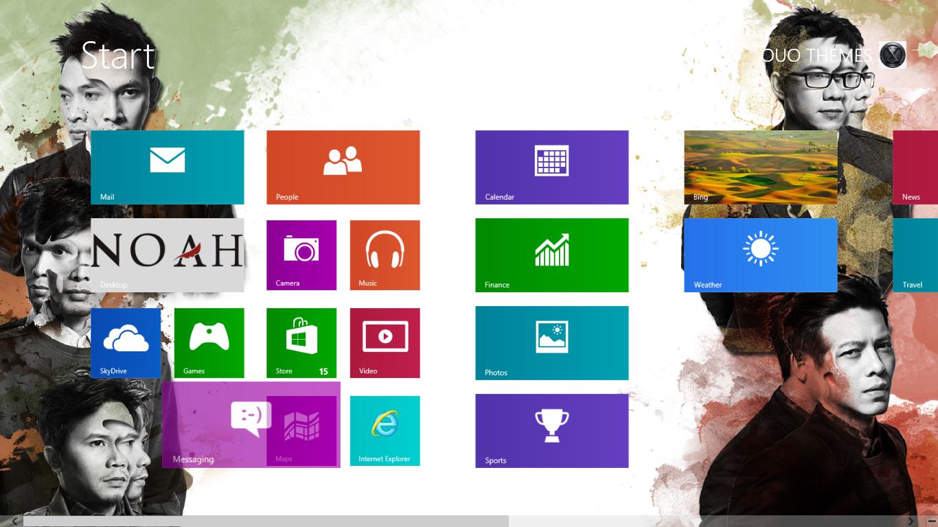 Download Tema Noah Band Untuk Windows 7 Dan Windows 8, Noah Band