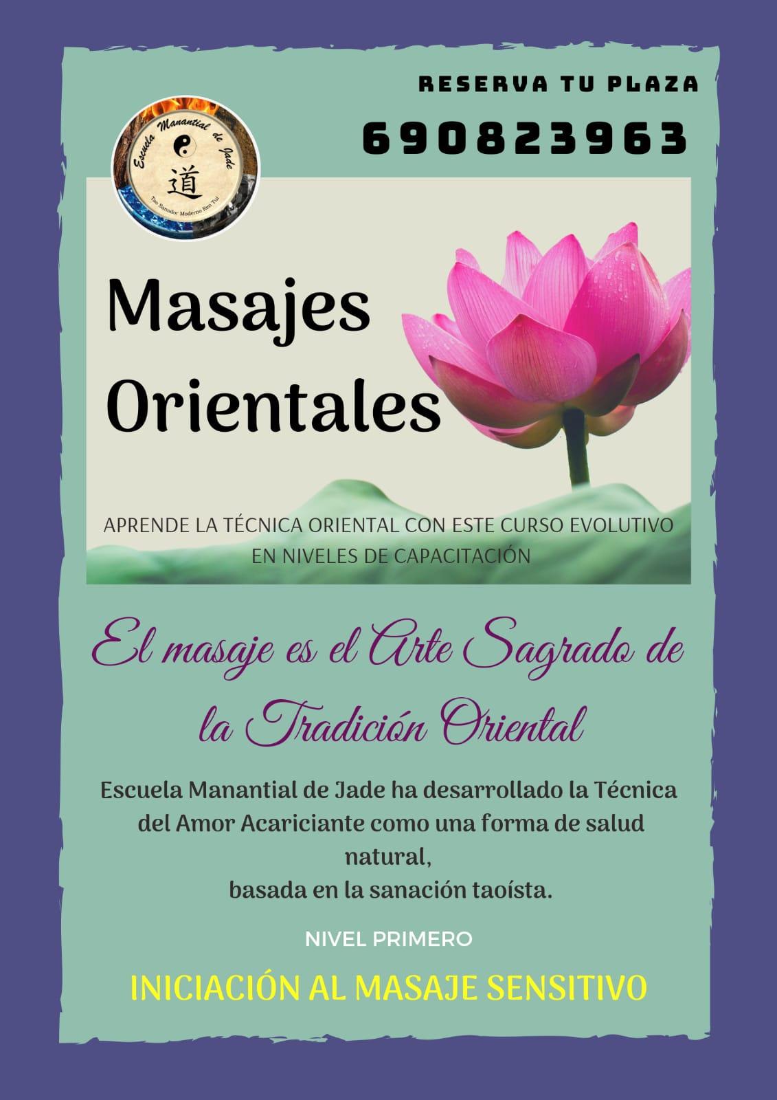CURSO DE MASAJES ORIENTALES