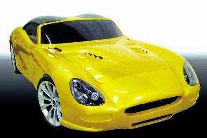 Gambar Mobil Sport Mewah Trident Iceni Kuning (Yellow)