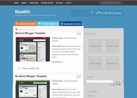 BlueWiz Blogger Template