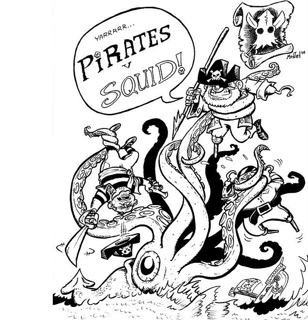 Pirates v Squid