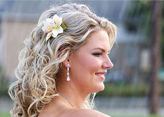 bridal hair flowers veil