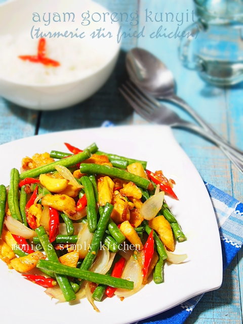 turmeric stir fried chicken