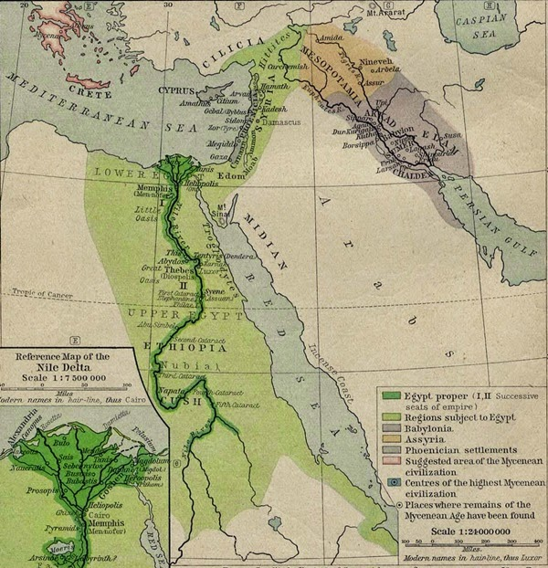 Ancient Map of The Middle East