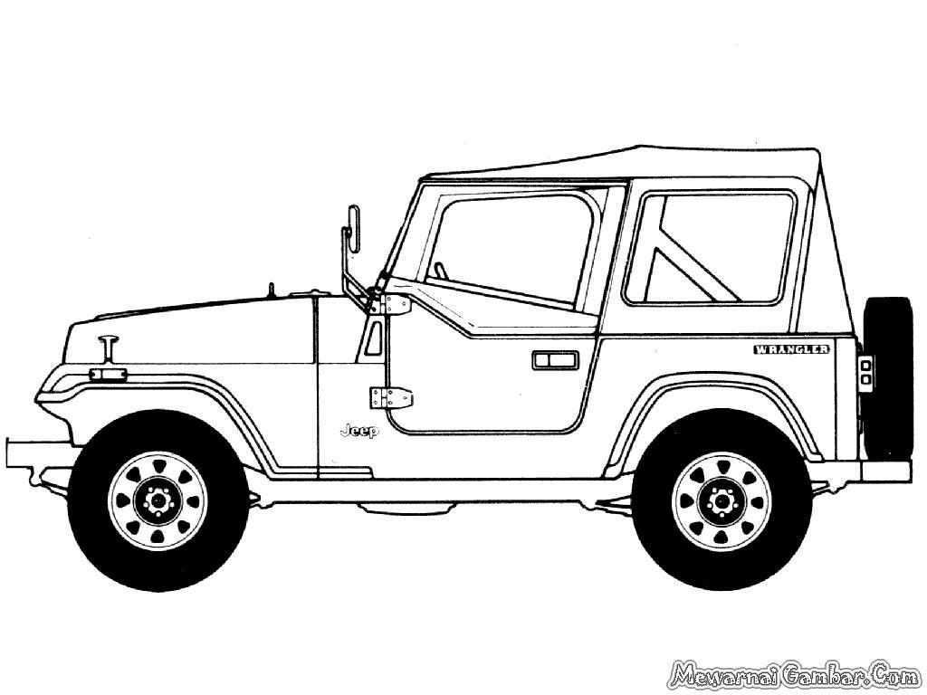 Jeep untuk diwarnai , silahkan download semua gambar-gambar mewarnai