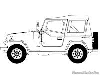 Gambar Mobil Jeep Wrangler Untuk Diwarnai