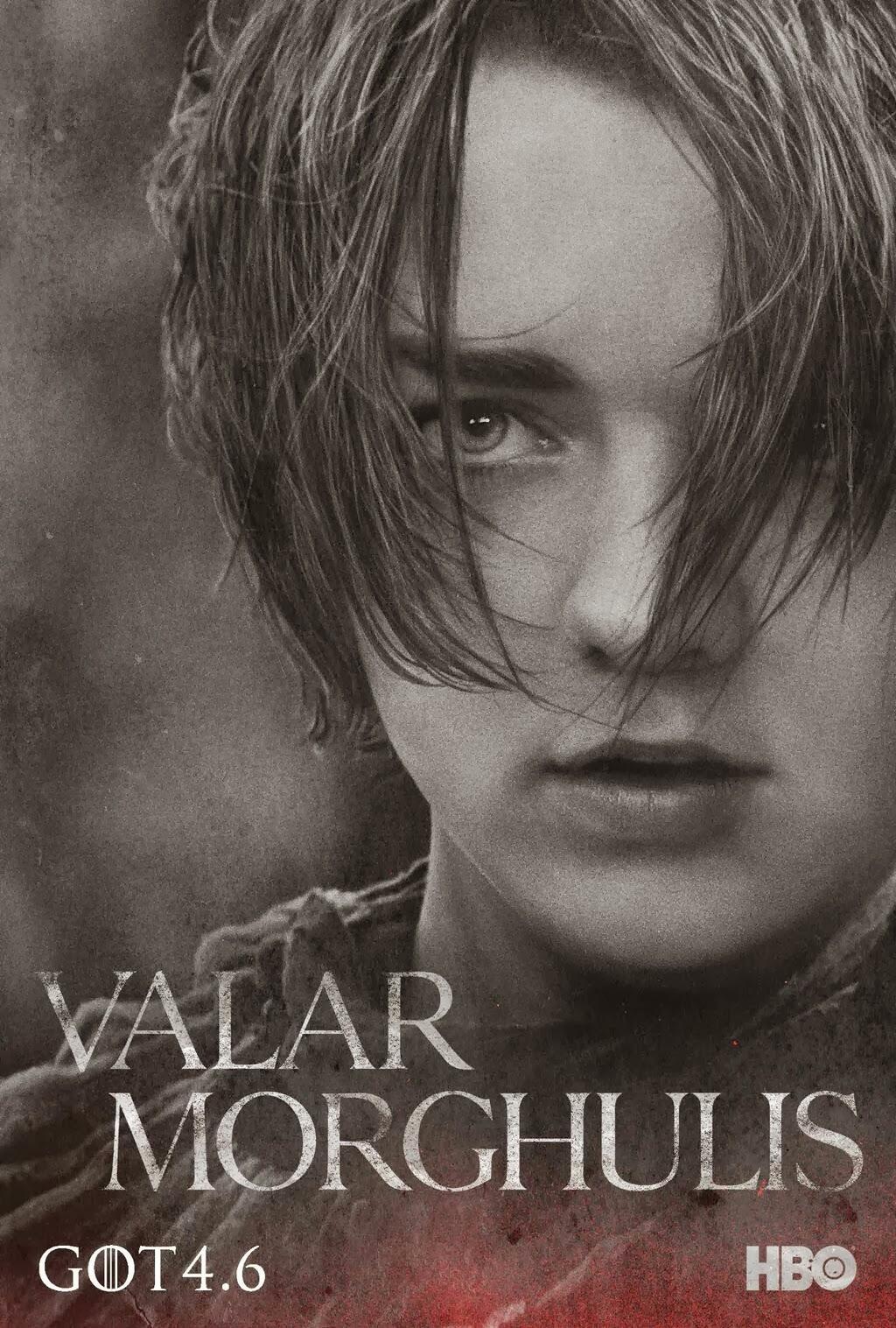 Arya póster promocional cuarta temporada de Juego de Tronos - Juego de Tronos en los siete reinos