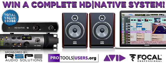 Win a Complete Pro Tools HD Native System