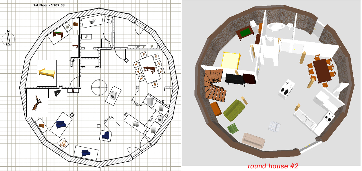 Round shaped house plan House design plans