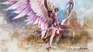 aion fantasy cg archer girl wallpapers hd