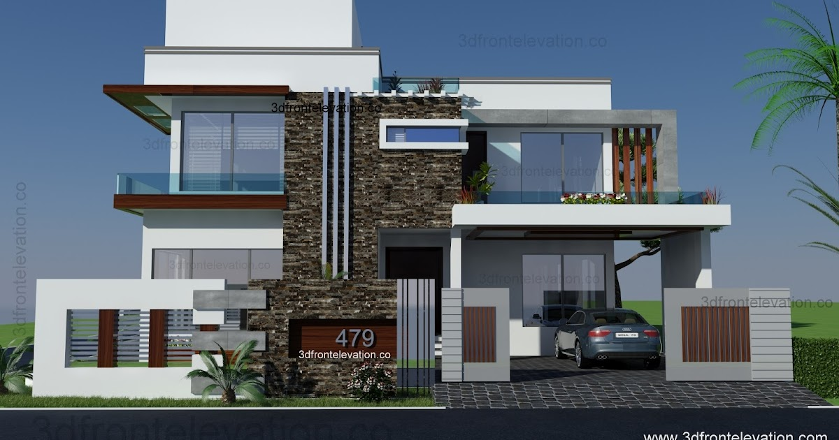 3d Front 500 Square Yards House Plan 3d