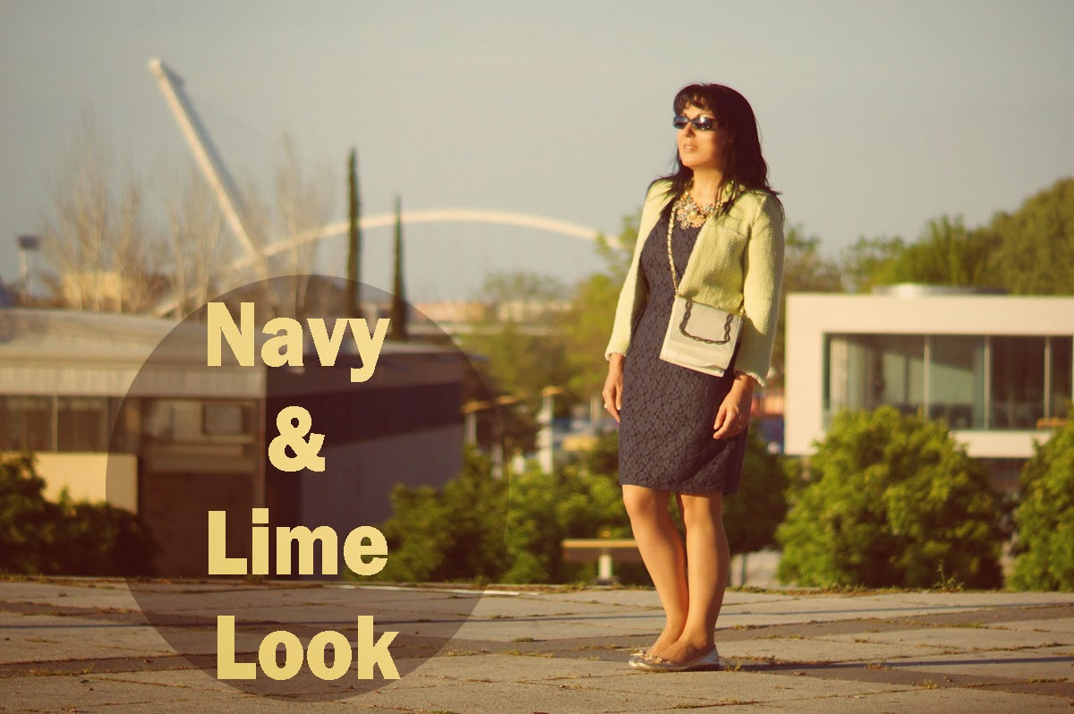 navy+and+lime+look