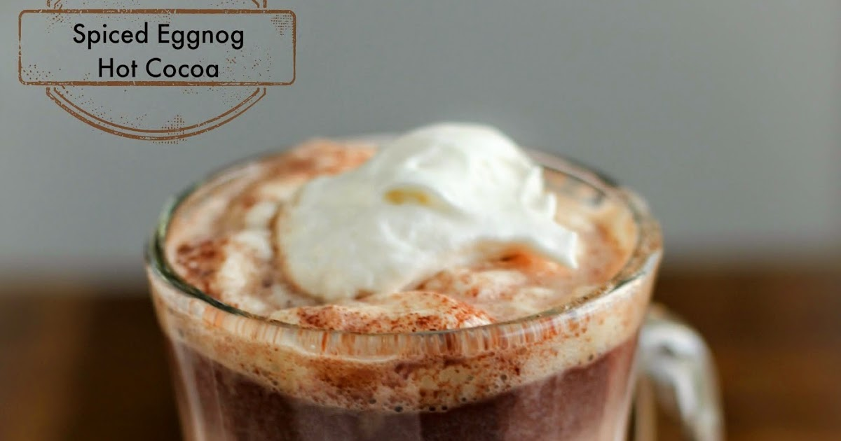 Spiced Eggnog Hot Cocoa