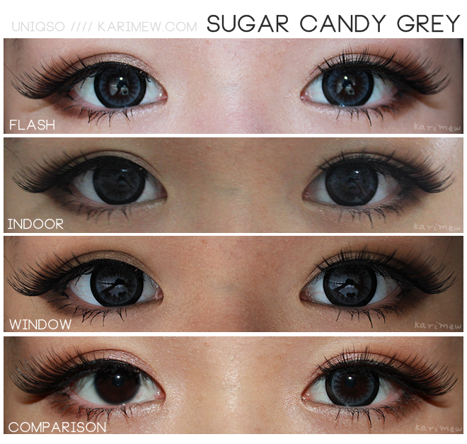 Dolly Eye Sugar Candy grey colored contacts