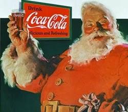 Primeira propaganda da Coca-Cola com o Papai Noel, em 1930.